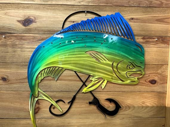 Mahi Mahi Wall Hanging Etsy Wall Hanging Hanging Metal Working