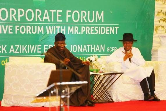 Photos from GEJ's meeting with Nigerian business owners in Lagos.