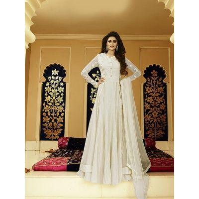 White  Color Glamorousstar Designer Anarkali