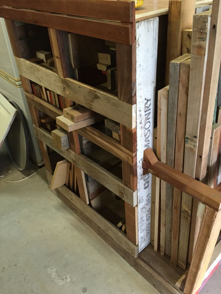 Pallet Wood Rack made from pallets and wood I sourced at our local dump