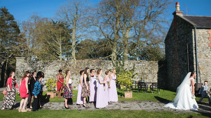 Bouquet Toss by Emma May Photography #weddingphotography #weddingideas #funtimes #creativephotography #groupphoto #Ballymagarvey Village