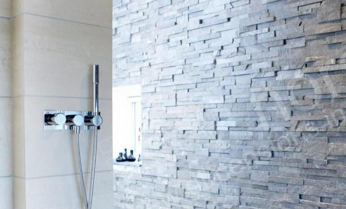 Natural Stone Shower Panels Stacked Stone Veneer Shower