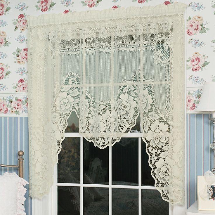 Victorian Rose Swag Curtain Valance