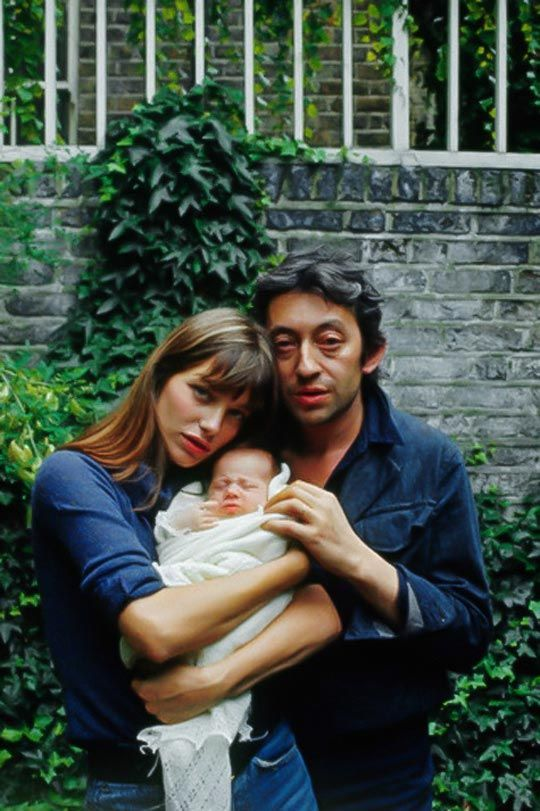 Serge Gainsbourg, and Jane Birkin with their daughter Charlotte, 1971, London, England, UK, Tony Frank ©