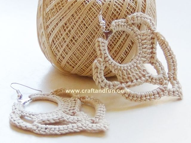 DIY earrings crochet - a photo tutorial explains step by step how to achieve them