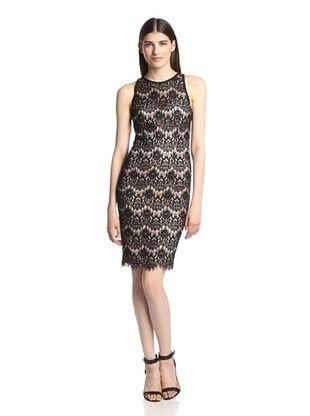 56% OFF Jay Godfrey Women's Sinema Lace Halter Sheath Dress (Black/Blush)