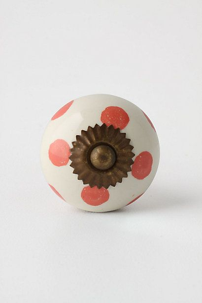 Dotted Zinnia Knob #anthropologie