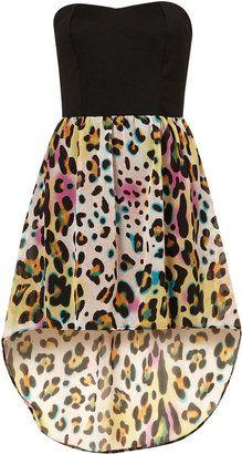 love!: Fashion, High Low Dresses, Hemmings Dresses, Animal Prints, Leopards Prints, Dips Hemmings, Bandeau Dips, Cheetahs Prints, Leopards Dresses