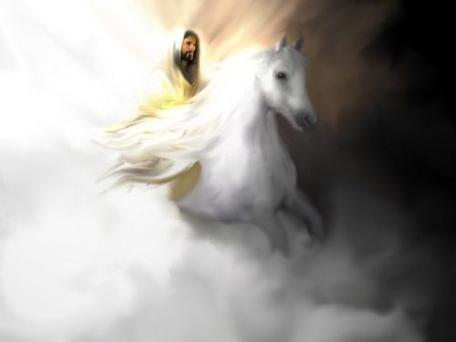 Jesus Coming On a White Horse by GaiaFly, via Flickr