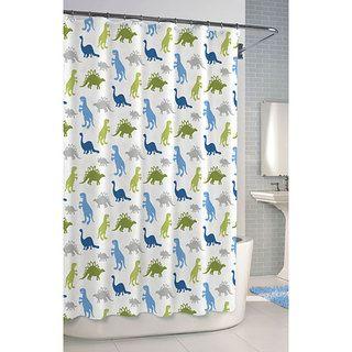 overstock dinosaur printed cotton shower curtain choose this 100 percent cotton shower curtain