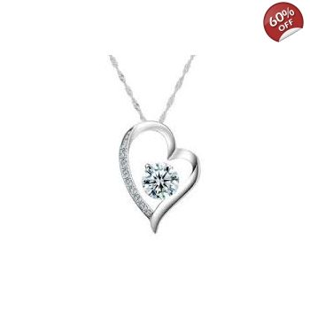 JEWELRY SILVER NECKLACE LOVE WOMENS HEART GBP1500