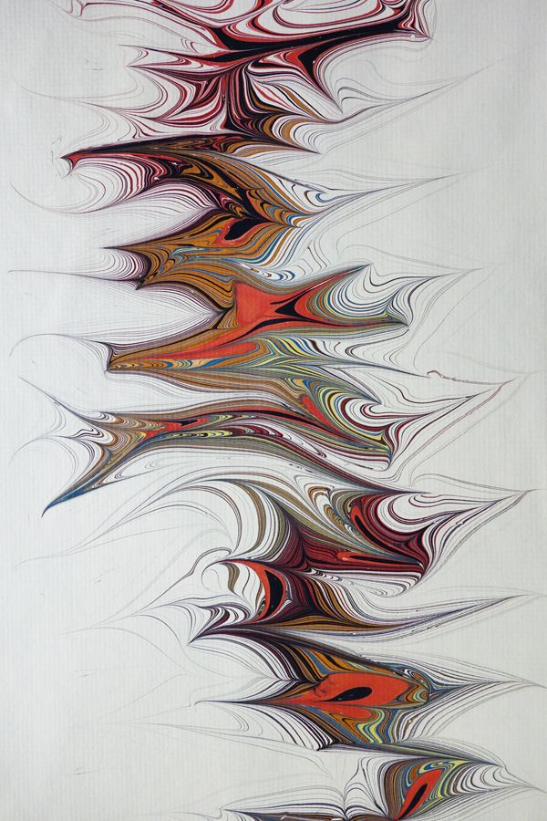 Freeform marbling by Susan Pogany. Wow! now we have artists taking the medium to a whole new level.