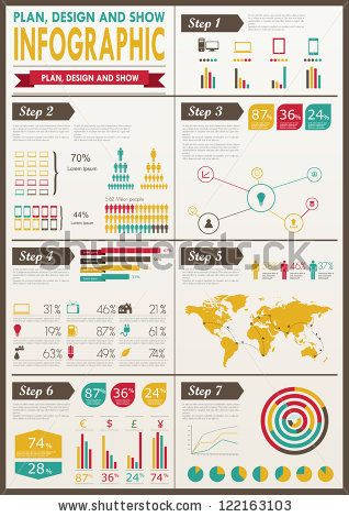 Detail infographic vector illustration. World Map and Information Graphics by Antun Hirsman, via Shutterstock