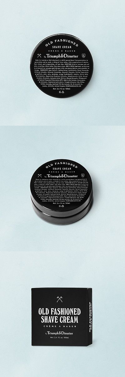 Shaving Creams Foams and Gels: Triumph And Disaster - Old Fashioned Shave Cream Jar -> BUY IT NOW ONLY: $31 on eBay!