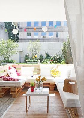 Palletten-Lounge-Sofa