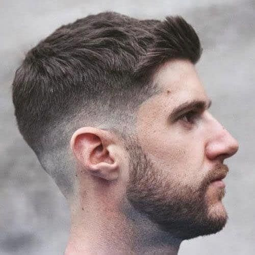 Thick Haircuts – Side Swept Fringe + Crew Cut – Best Hairstyles For Men: Cool Men's Haircuts For Thick Hair #menshairstyles #menshair #menshaircuts #m