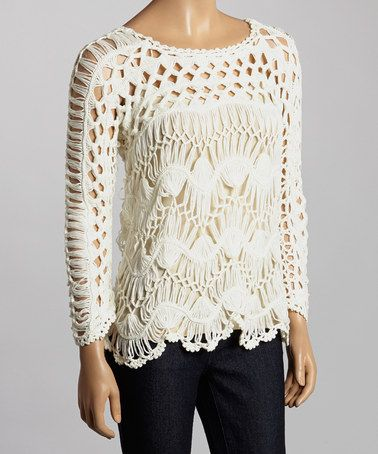 Another great find on #zulily! White Crocheted Top #zulilyfinds