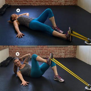 Resistance Band Side Crunch http://www.womenshealthmag.com/fitness/exercises-for-obliques/side-plank-with-contralateral-knee-tuck
