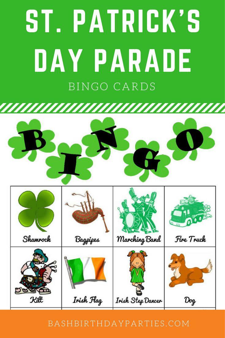 St. Patrick's Day Parade Bingo Cards
