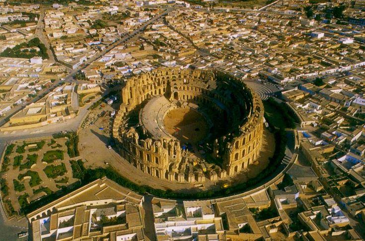 This is the Roman Amphitheatre of El Jem, in Tunisia.