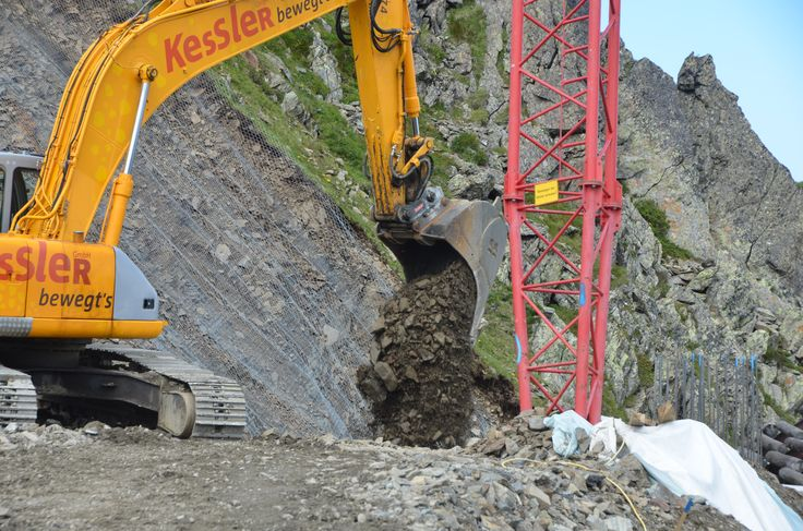 Baggerarbeiten bei der Bergstation #silvrettamontafon #panoramabahn
