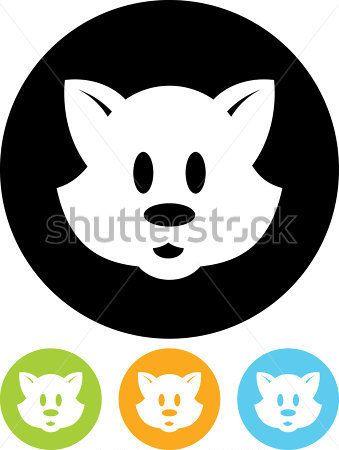 Χαριτωμένα Κινούμενα Σχέδια Χαρακτήρα Του Ζώου Πρόσωπο Εικονίδιο Του Φορέα Που Απομονώνονται διαθέσιμο διάνυσμα - Clipart.me