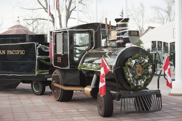 The CP Rail Mini Train - On display for the  International Christmas Market at #SpruceMeadows #Pufferbelly