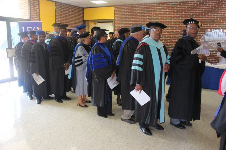 Rust College Holly Springs, MS. Celebrates 150th Founders' Convocation 1866-2016, faculty entrance