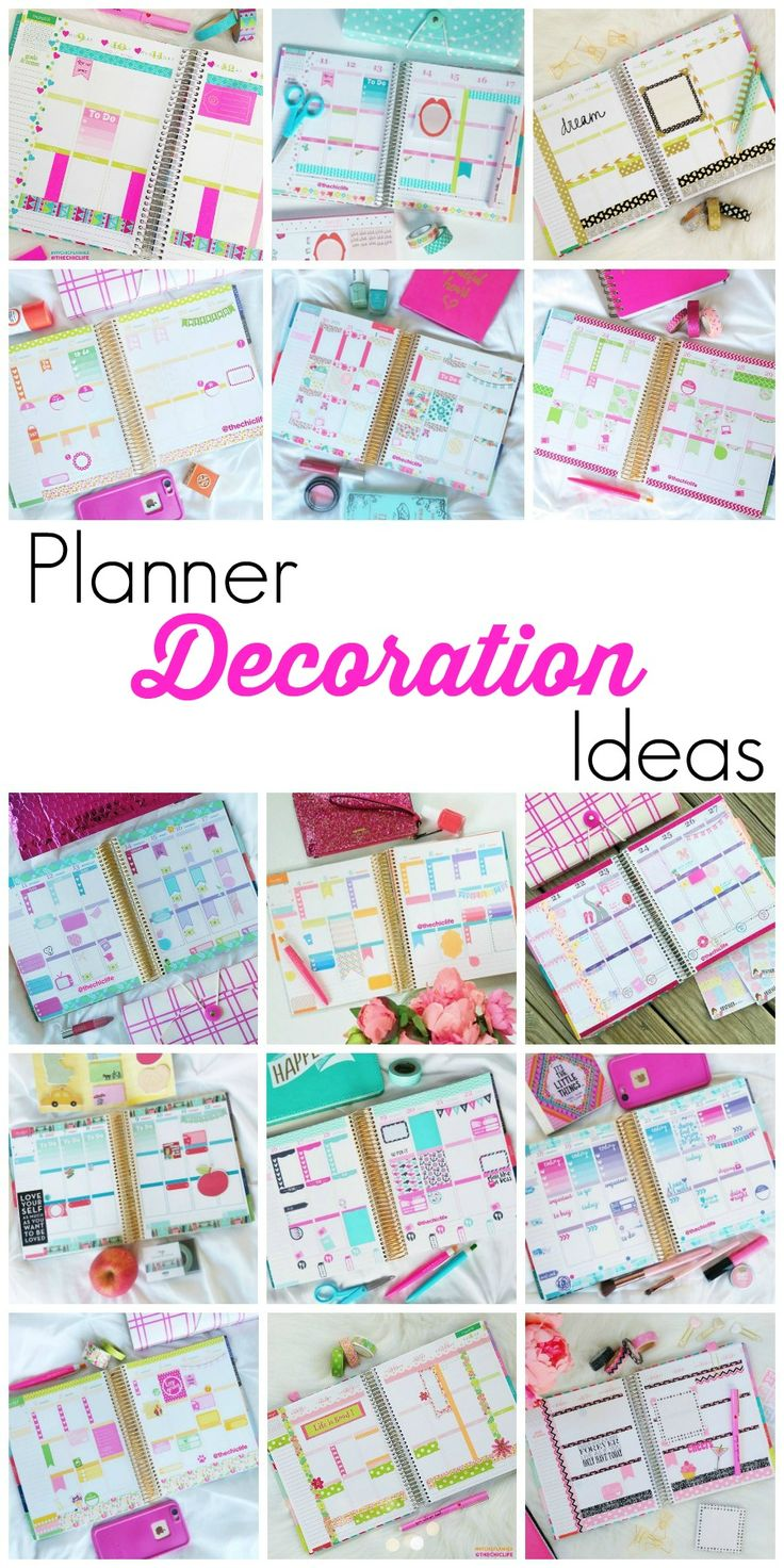 Planner Decoration Ideas for your Erin Condren Life Planner (Vertical Layout) - photos for monthly and weekly layouts since 2015!