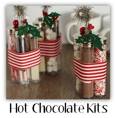 hot-chocolate-kits! This is a cute way of putting them together- never seen it done that way!