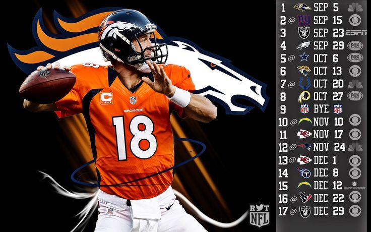 denver broncos schedule wallpaper | 2013 Denver Broncos wallpapers
