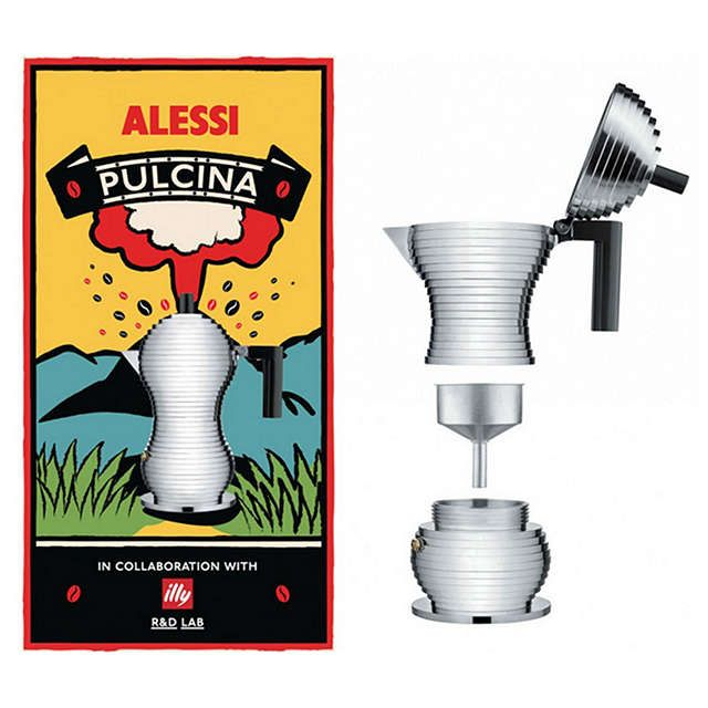 "BuyAlessi ""Pulcina"" Espresso Coffee Maker, 3 Cup Online at johnlewis.com"