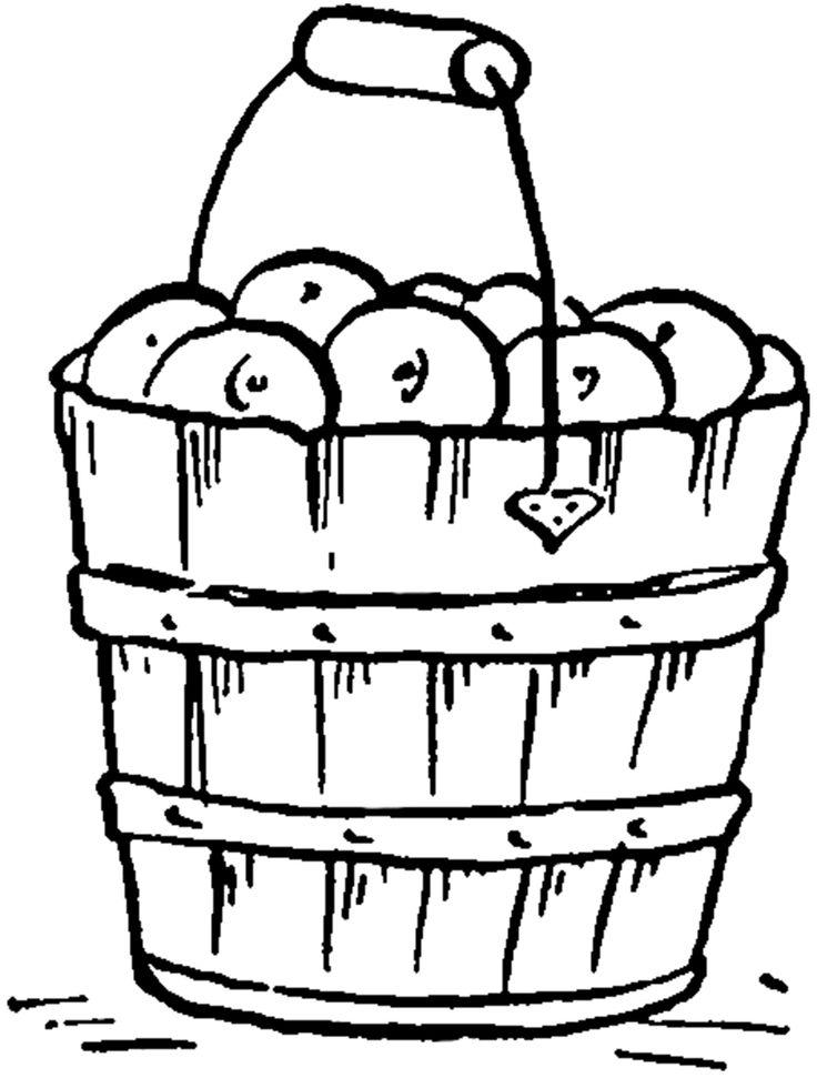 Vintage Apple Bucket Image! - The Graphics Fairy