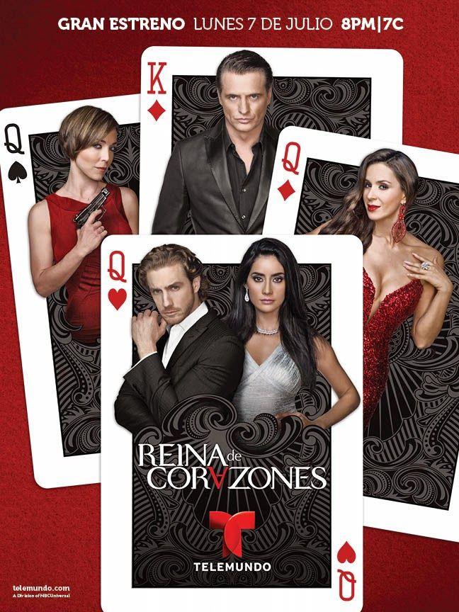 Laura Flores, Catherine Siachoque, Juan Soler, Paola Nuñez and Eugenio Siller in Reina de corazones (2014)