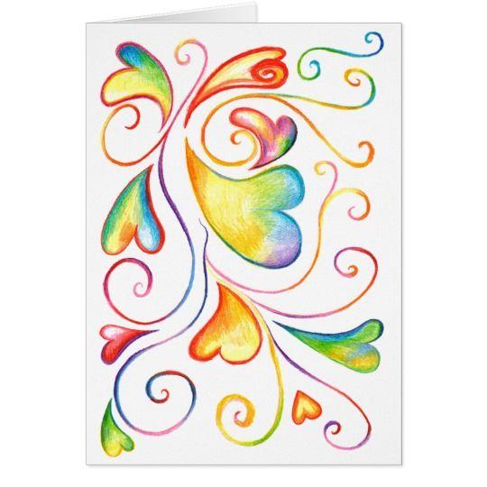 Colorful Valentine Spirals Card