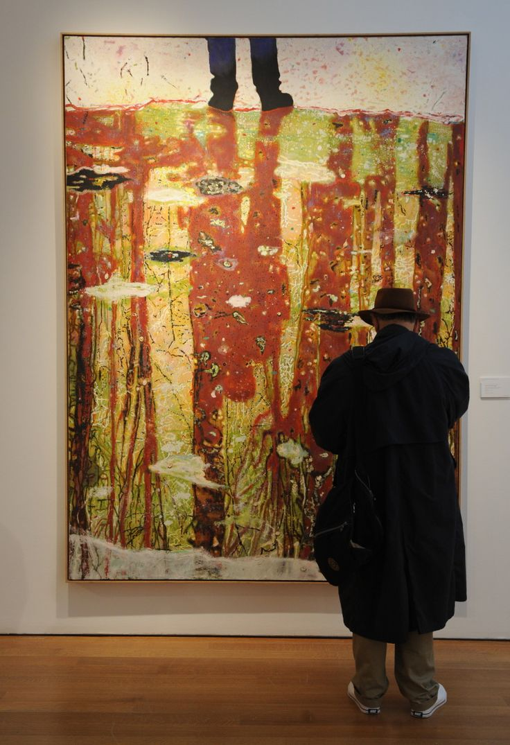 Peter Doig. Wintery reflections. Wow!