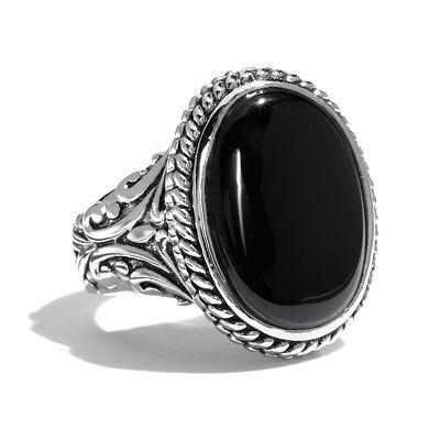 Silver Tone Oval Cabochon Ring. Kohls $12