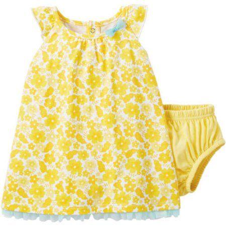 Child Of Mine Baby Girl 1pc Dress Yellow