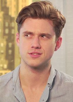 When he made this painfully cute confused face.   The 42 Most Seductively Charming Aaron Tveit Moments Of All Time