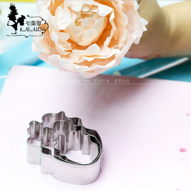 DIY Sugar stainless steel peony shear modulus d'Angleterre sugar flowers cutter cake mould  #Affiliate