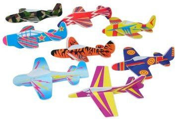 72 Bulk Airplane Gliders - Party Favors