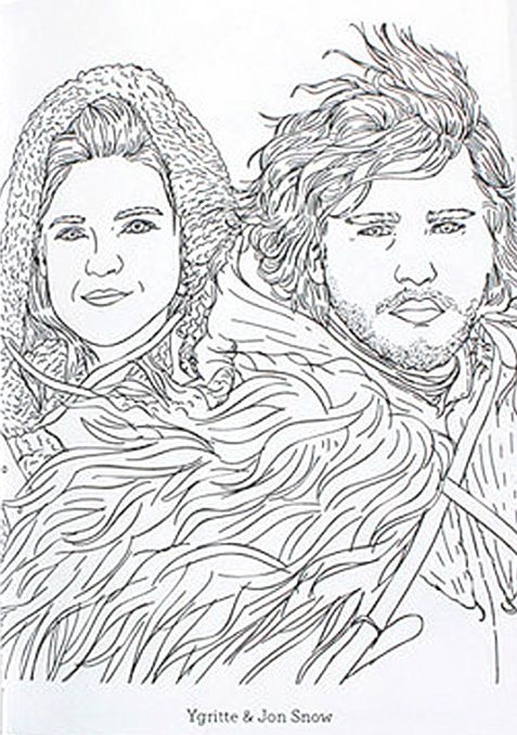 game of thrones coloring book ygritte and jon snow - Beyonce Coloring Book