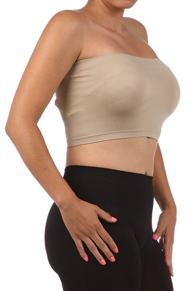 NEW WOMEN PLUS SIZE BANDEAU BRA Seamless Tube Top Strapless Soft XL 1X – a butterfly boutique