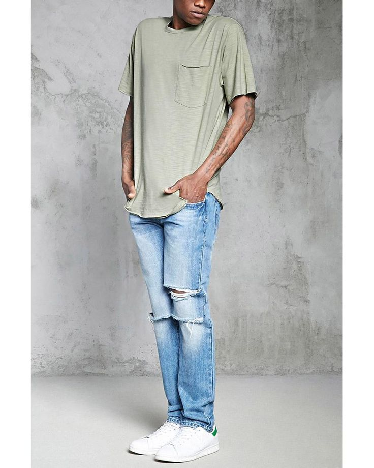 Buy Forever 21 Men's Multicolor Raw-cut Pocket Tee, starting at $11. Similar products also available. SALE now on!