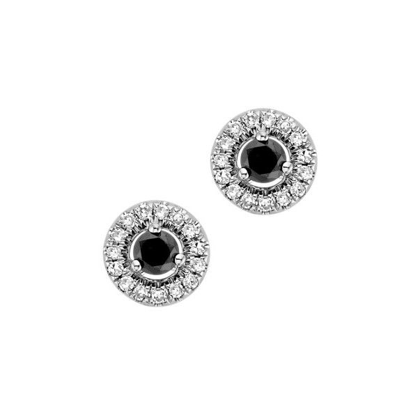 Fred Meyer Jewelers   1/4 ct. tw. Black and White Diamond Stud... ($279) ❤ liked on Polyvore featuring jewelry, earrings, black diamond, black and white diamond earrings, jeweled earrings, diamond earring jewelry, earring jewelry and jewels jewelry