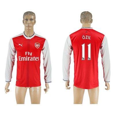 Arsenal 16-17 Mesut Ozil 11 Hjemmebanetrøje Langærmet.  http://www.fodboldsports.com/arsenal-16-17-mesut-ozil-11-hjemmebanetroje-langermet.  #fodboldtrøjer