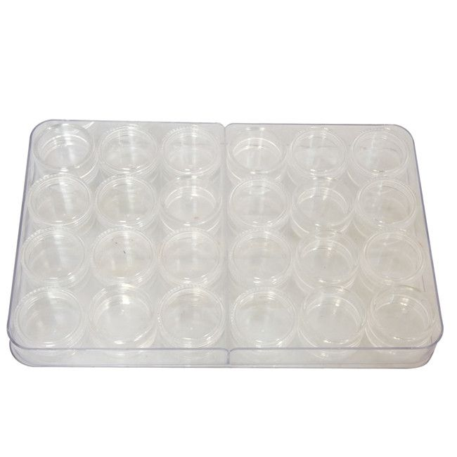 Empty Small Jars with lid (24 Pack)