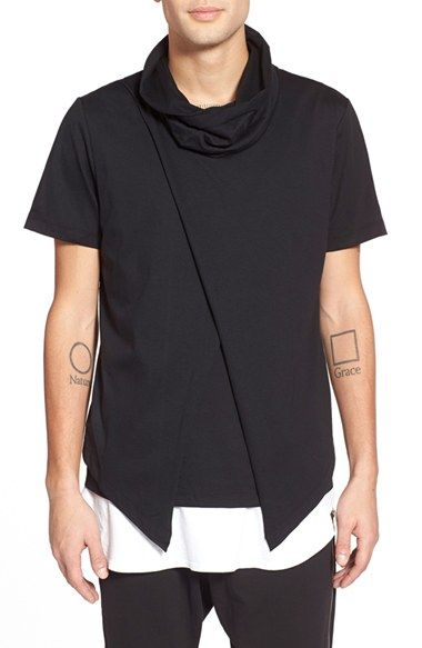 Antony Morato Asymmetrical Funnel Neck T-Shirt available at #Nordstrom