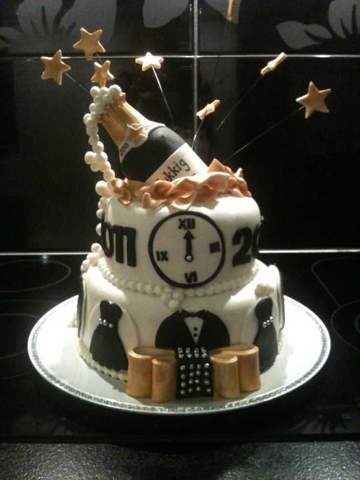 37 best New Year Cakes images on Pinterest | New years eve ...