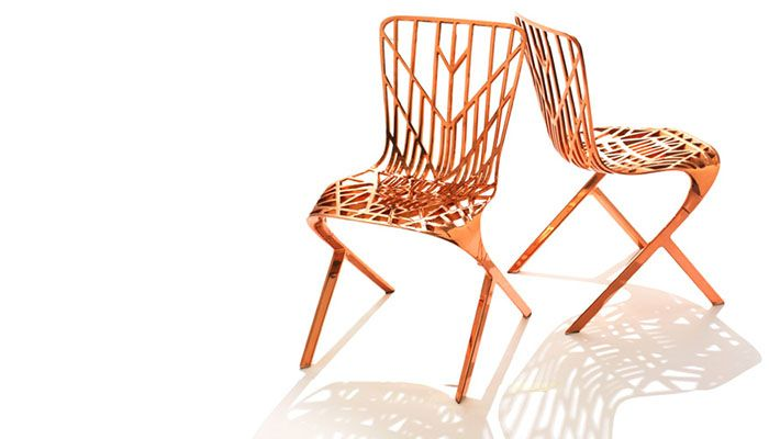 Washington Skeleton™ Chairs In Copper, Designed By David Adjaye For Knoll |  Photo By